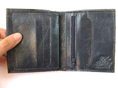 TRUE BLUE  men's Leather Wallet No. 874 by AmielLeatherDesign, $45.00