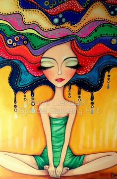 Pin by Jennifer Wohlers on Romi Lerda in 2019 Art And Illustration, Art Pop, Doodle Art, Afrique Art, Indian Art Paintings, Happy Paintings, Whimsical Art, Face Art, Art Lessons