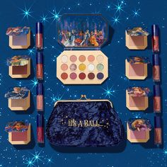 Don't know how to do this but just released their Disney Midnight Masquerade collection. I just bought ever ever after kit, zero to hero kit and enchanted mirror pressed powd Cool Makeup Looks, Cute Makeup, Glam Makeup, Makeup Kit, Beauty Makeup, Disney Inspired Makeup, Disney Makeup, Colourpop Cosmetics, Makeup Cosmetics