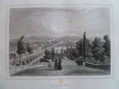 1852 antique engraving of Mexico city  old by DecorativePrints, €12.95