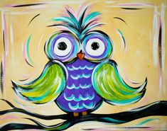 Who hoo hoo hooo says they can't paint? Come to Uptown Art Uncorked and find out that you CAN!