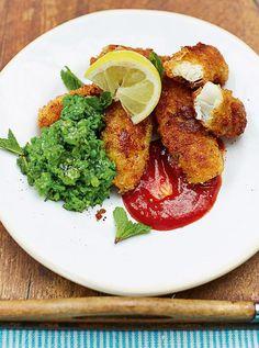 Kerryann's homemade fish fingers & minty smashed peas | Jamie Oliver | Food | Jamie Oliver (UK)