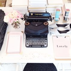 Typewriter and cute office goodies in the shop #misspoppydesign