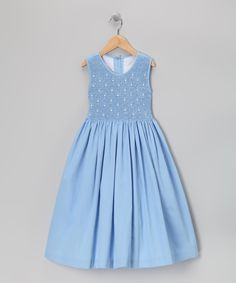 Blue Smocked Dress - Girls | Daily deals for moms, babies and kids