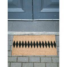 Harlequin Doormat  Rose & Grey