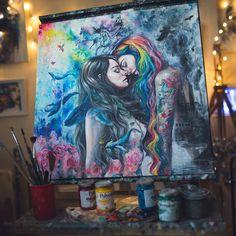 Colourful Me - original painting by TanyaShatseva on DeviantArt