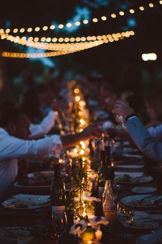nostalgic wedding reception