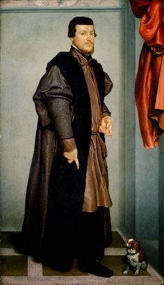Giovanni Battista Moroni (circa 1510-24, Albino – February 5, 1579, Albino), Northern Italian painter of the late Renaissance period.  He is best remembered for his elegant, psychologically insightful portraits of local (Bergamo) nobility, scholars, soldiers, and clergy.  His religious paintings were not successful, but he is considered one of the greatest portrait painters of sixteenth century Italy.