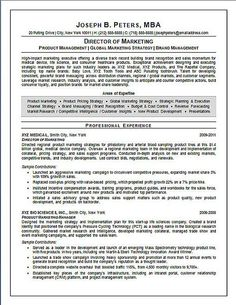 director of marketing resume example