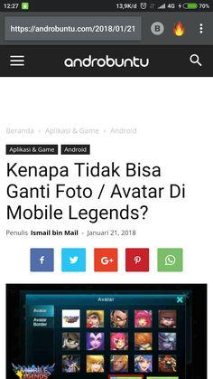 Kenapa tidak bisa ganti avatar di mobile Legends? Cari tahu jawabannya di androbuntu.com