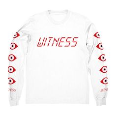Witness Badge Long Sleeve T-shirt Katy Retro Tour Tee Perry Chained Top