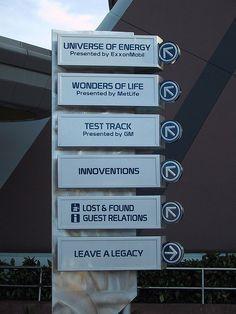 Epcot Directional Signage