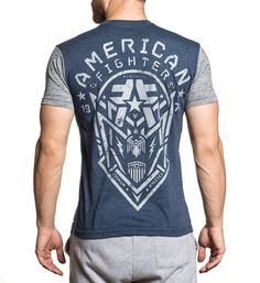 - Style - Men's Short Sleeve Tee - Silver Grey Coverstitch Up Side Seam - Cotton American Fighter, Short Sleeve Tee, Grey, Sleeves, Silver, Mens Tops, Cotton, T Shirt, Style