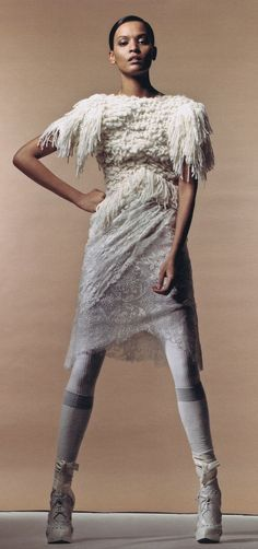 Rodarte Fall 2010 Ready-to-wear | Liya Kebede by Craig McDean | W Magazine, June 2010