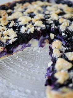 Blåbärspaj med inbakad vaniljkräm   Brinken bakar