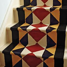 Painted stair runners seem all the rage these days. What do you think? | Photo: Di Lewis/EWA Stock Photo Library | thisoldhouse.com