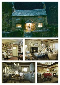 Kate Winslet's cottage in The Holiday | lifestylefiles blog