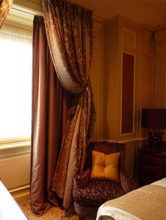 Détail décoration - chambre - Principe di savoia - palace - Milan - luxe - bedroom - suite - rideaux.