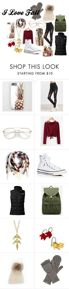 """Fall"" by otayfashion on Polyvore featuring Eloquii, Converse, The North Face, Everlane and Cathy Waterman"