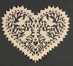 Scherenschnitte-the German art of paper cutting Diy Paper, Paper Art, Paper Crafts, Origami, Paper Cutting Patterns, German Folk, Paper Cut Design, Scroll Saw Patterns, Paper Quilling