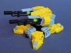 Dual laser turret. Left an right side are linked to rotate together.