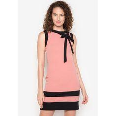843671fb08 Lauren Dress Color Blocking, Pink Dress, Spandex, Neckline, Zipper, Pink  Sundress