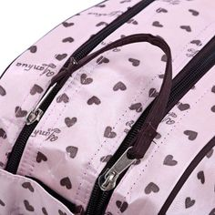 Insular Multifunctional Waterproof Heart Printed Baby Diaper Bag Mummy Handbag
