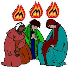 Pentecost lesson for kids, including a link to a coloring page.