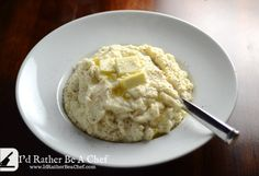Packed full of flavor and easy to make cauliflower puree that is paleo, vegetarian, gluten free and wheat belly friendly. Cauliflower puree is easy!
