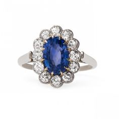 Exceptional Victorian Era Sapphire Engagement Ring | Solvang