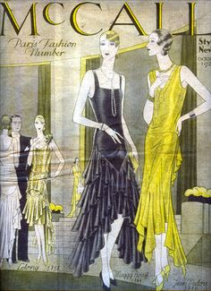 Art Deco, 1920's Fashion designs, McCall's Home Dressmaking Patterns, Packaging Envelope Cover~