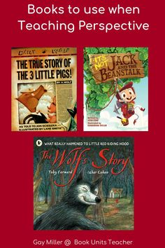 This post provides teaching ideas and free printable and Google Slide Activities to teach perspective in literature to upper elementary students. Context Clues, Literature Books, What Really Happened, Inference, Little Pigs, Reading Skills, Upper Elementary, Red Riding Hood, True Stories