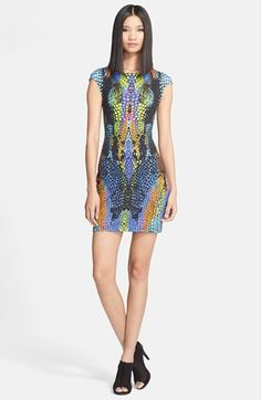 McQ by Alexander McQueen Crocodile Print Body-Con Dress available at #Nordstrom