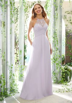 Modern and Sophisticated Chiffon Bridesmaid Dress Mori Lee Bridesmaid Dresses, Prom Dresses, Wedding Dresses, Dressy Dresses, A Line Gown, Bridal Gowns, Fashion Dresses, Women's Fashion, Spring