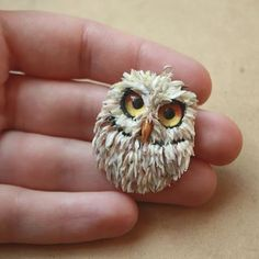 Image result for polymer clay owl pendant