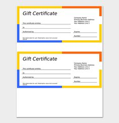 How To Word A Gift Certificate Gorgeous 44 Free Printable Gift Certificate Templates For Word & Pdf .