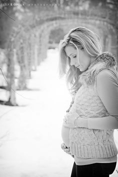 cold weather maternity shoot- I like the idea of knits and fur