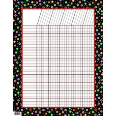Dots on Black Incentive Chart. This incentive chart is accented with our new brightly colored Poppin' Patterns designs. Learning Sight Words, Learning Shapes, Learning Time, Division Chart, Metric Conversion Chart, Learn To Sign, Student Rewards, Multiplication Chart, Body Chart