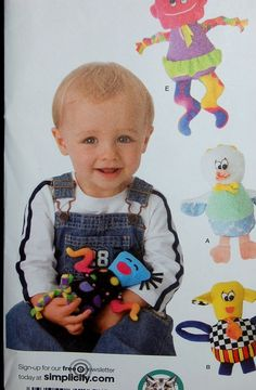 SIMPLICITY SEWING PATTERN #3516 STUFFED BABY TOYS CARLA REISS DESIGN #Simplicity