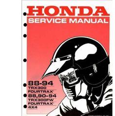 1988 1994 honda trx300 fourtrax atv repair manual