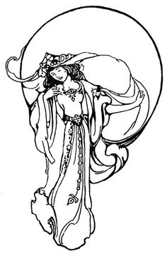 Fantasy Embroidery Designs: Goddess Embroidery Pattern