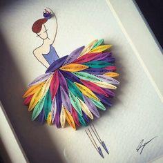 Ballerina quill art