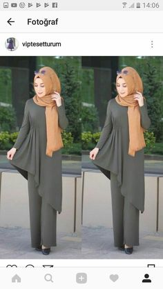 New Fashion Hijab Tunik 35 Ideas Abaya Fashion, Modest Fashion, Fashion Dresses, Muslim Women Fashion, Islamic Fashion, Hijab Style Dress, Hijab Outfit, Tutu Rock, Modele Hijab