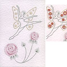 Stitching Cards Fairy Leaping