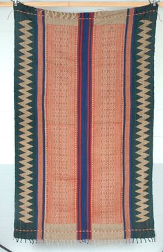 Naga cotton textile Burma Myanmar India Nagaland stripe pattern fall colors tribal Water Air Industry OCT22
