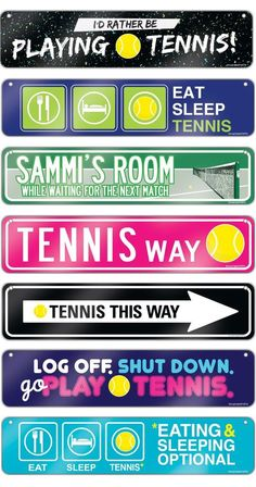 Life is better with Tennis Room Signs! These aluminum decorative signs are sure to add some tennis decor to any room! They make the sweetest tennis gift for any avid player!