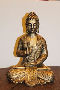 Budas De Yeso Patinados Y Pintados Buddha Peace, Buddha Zen, Buddha Buddhism, Spiritual Meditation, Pottery Sculpture, Japan Art, Chinese Art, Peace And Love, Statue