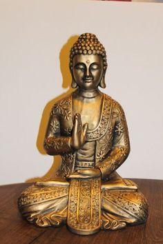 Budas De Yeso Patinados Y Pintados