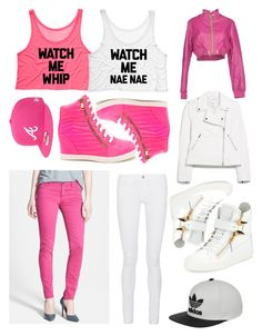 """Style with ur BFF"" by hernandeznatalia on Polyvore featuring KUT from the Kloth, Frame Denim, MANGO, Gold Bunny, Giuseppe Zanotti, New Era, adidas, women's clothing, women's fashion and women"
