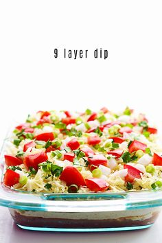 Why stop at 7?? This 9 layer dip takes party dips to a whole new level of fun and yum!